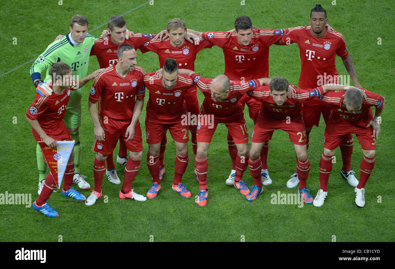 19.05.2012. Monaco di Baviera, Germania. Monaco di Baviera (team torna L-R) Portiere Manuel Neuer, Toni Kroos, Anatoliy Immagini Stock