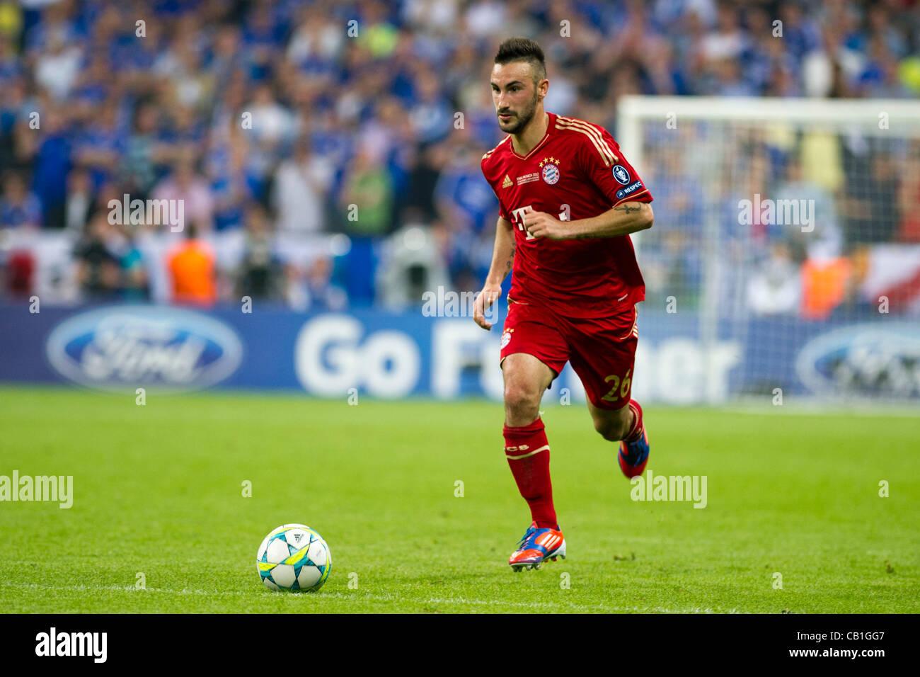 Diego Contento (Bayern), 19 maggio 2012 - Calcio : UEFA Champions League 2011-2012 partita finale tra il Bayern Immagini Stock