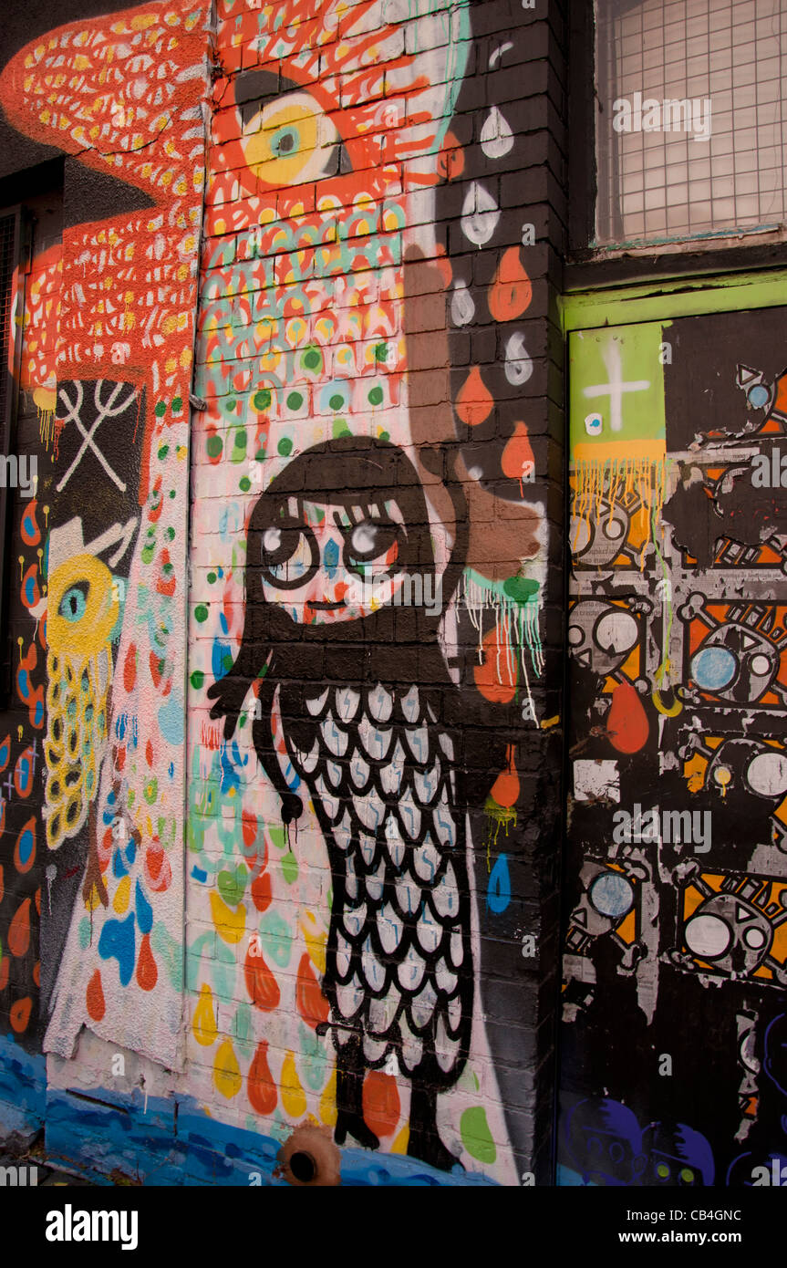 Street graffiti in Digbeth, Birmingham Immagini Stock