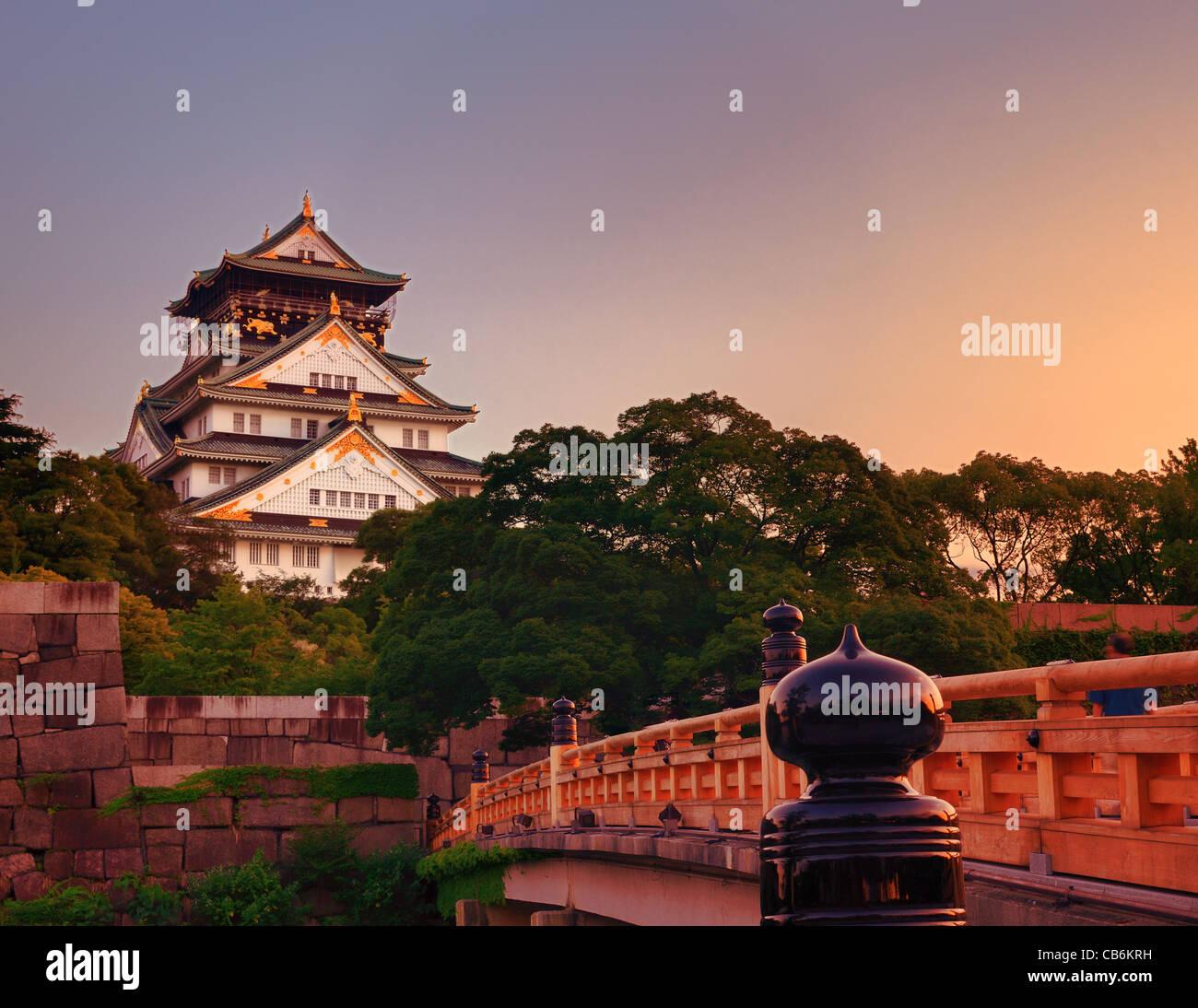 Il Castello di Osaka a Osaka, in Giappone. Immagini Stock