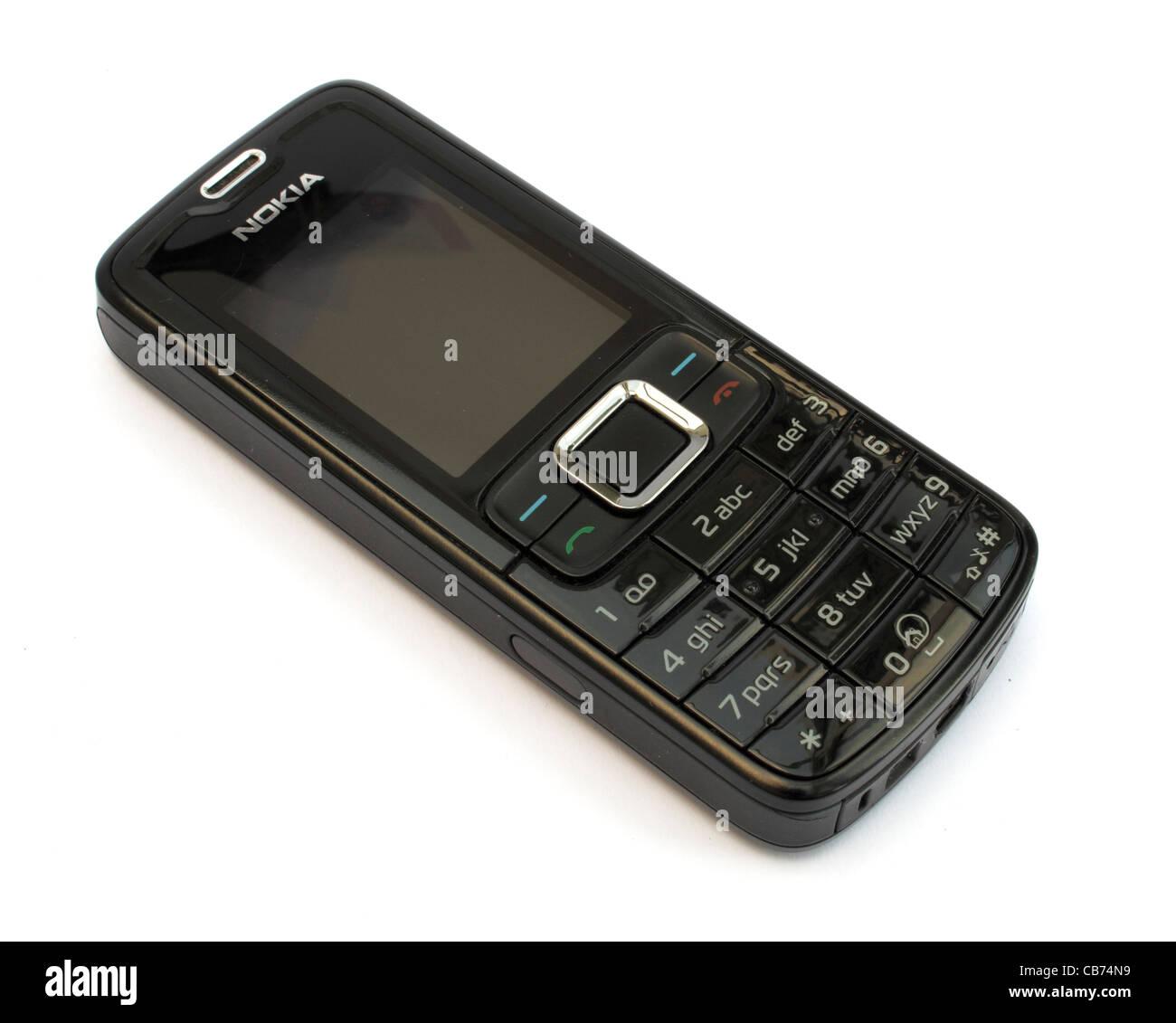 Un Semplice Telefono Cellulare Nokia Su Sfondo Bianco Foto