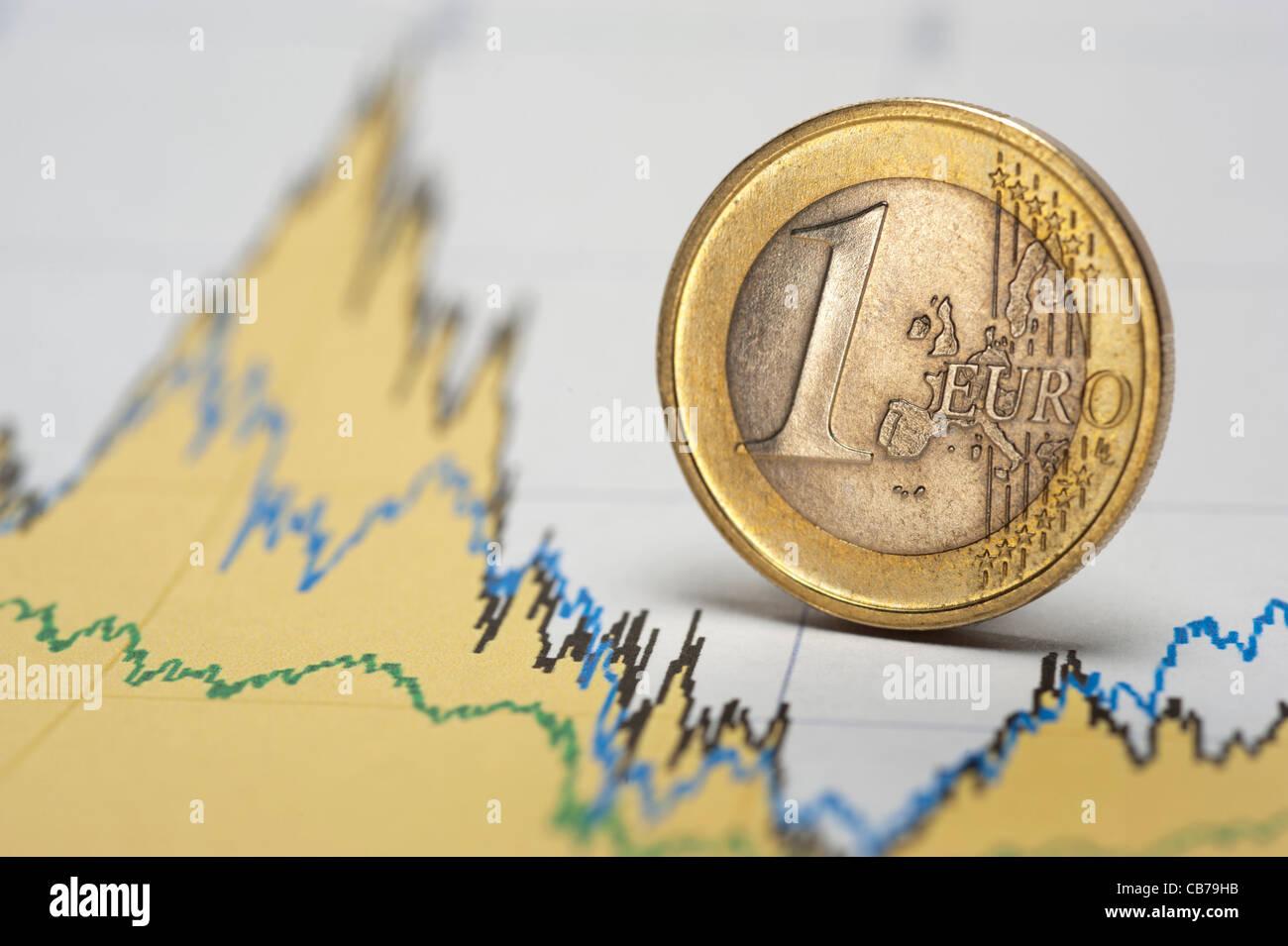 Euro crisi finanziaria Immagini Stock