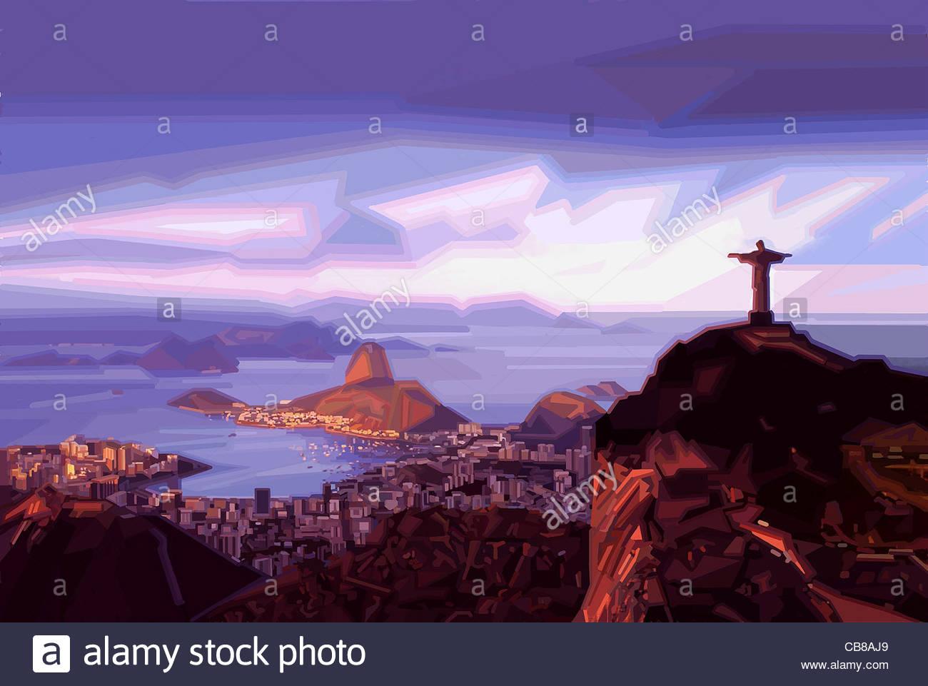 Serie città di Rio de Janeiro il carnevale città urban urbanità città in città Immagini Stock