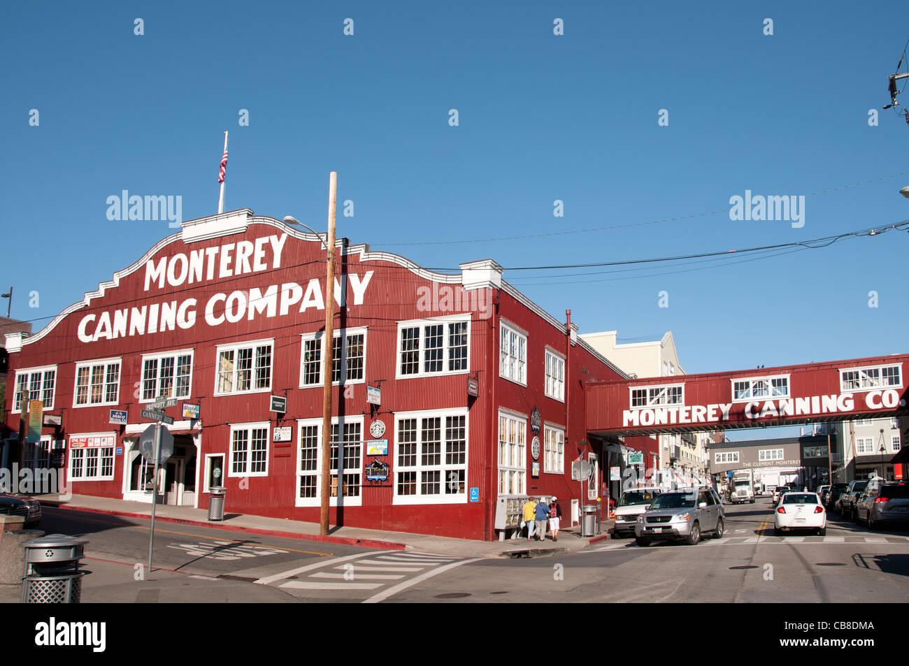 Monterey Canning Company California Port Harbour USA American Stati Uniti d'America Immagini Stock