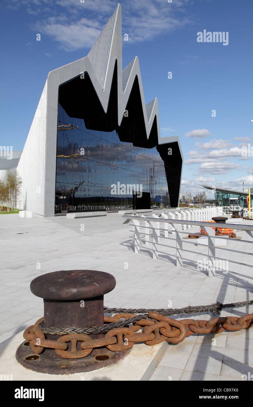 Riverside Museum di trasporti e viaggi, Glasgow, Scotland, Regno Unito Immagini Stock