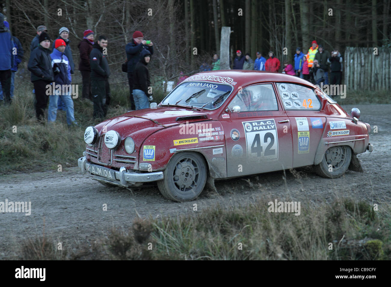 Rally motor sport cars Immagini Stock