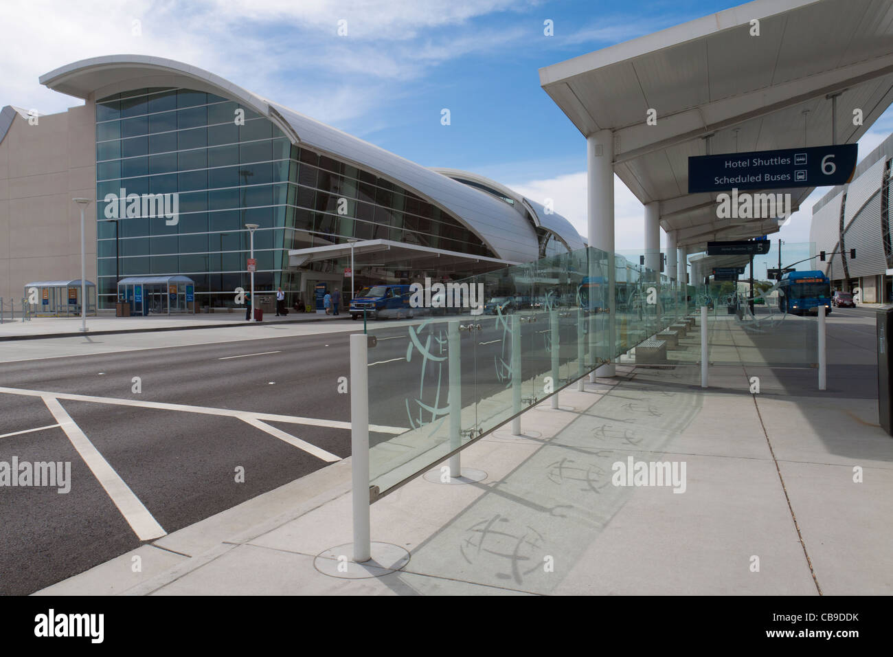 Esterno dell'Aeroporto Internazionale di San Jose in California, gateway di Silicon Valley Immagini Stock