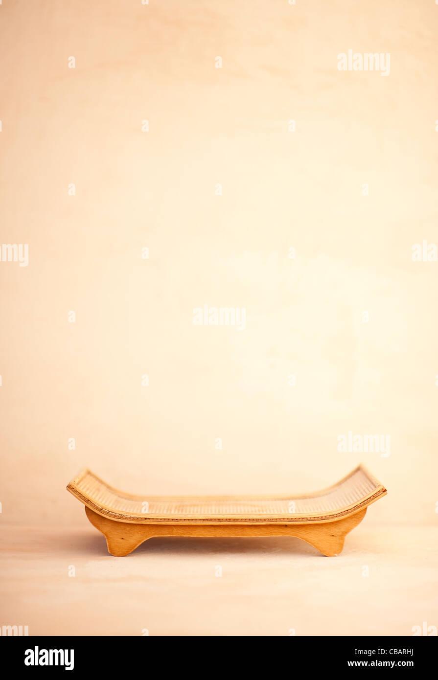 Zen vassoio di servizio semplice still life fotografia. Immagini Stock