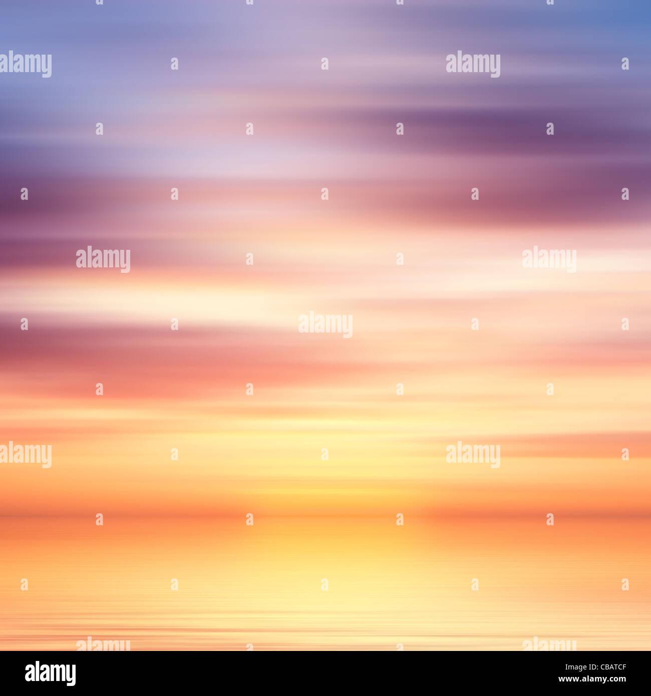 Bella colorata acqua e cielo sfondo astratto Immagini Stock