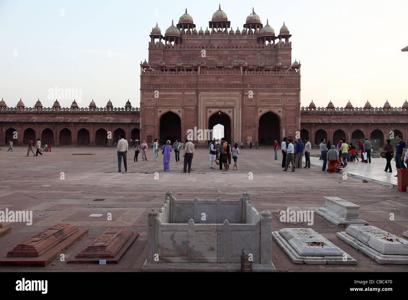 Fatehpur Sikri,architettura Indo-Islamic,architettura indiana,luogo turistico,l'architettura,sabbia rossa pietra,l'India. Immagini Stock
