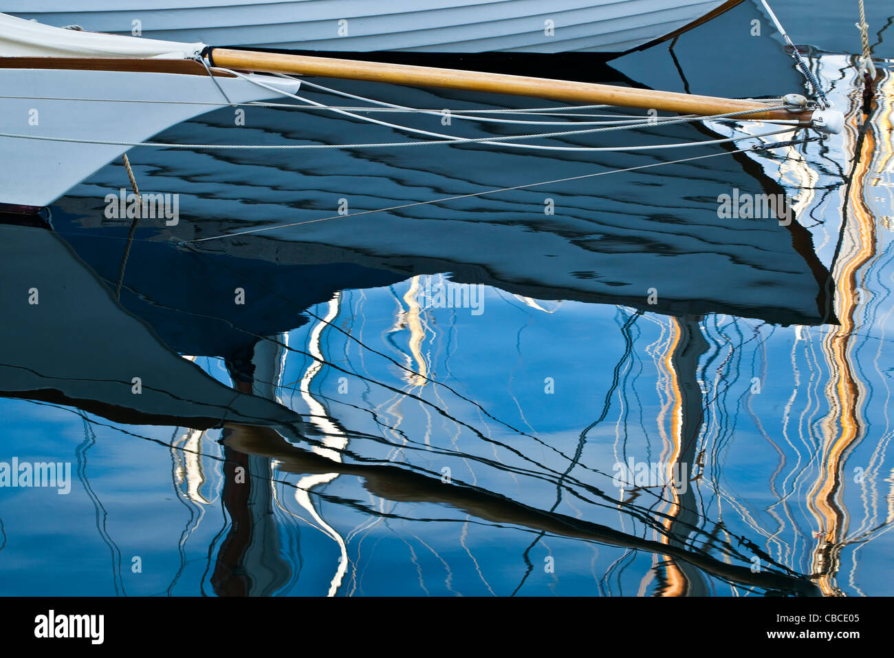 Clipper bow spirito di Caillebotte Lézard della replica di un 30 sq.m CVP (Cercle de la Voile de Paris) Foto Stock