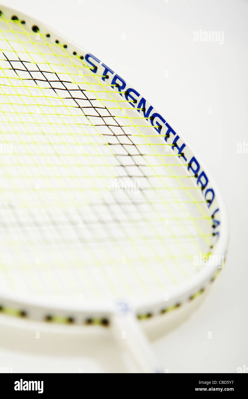Studio shot di badminton racchetta Immagini Stock