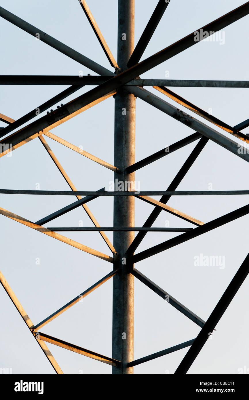 Indian telecommunications tower astratta. India Immagini Stock