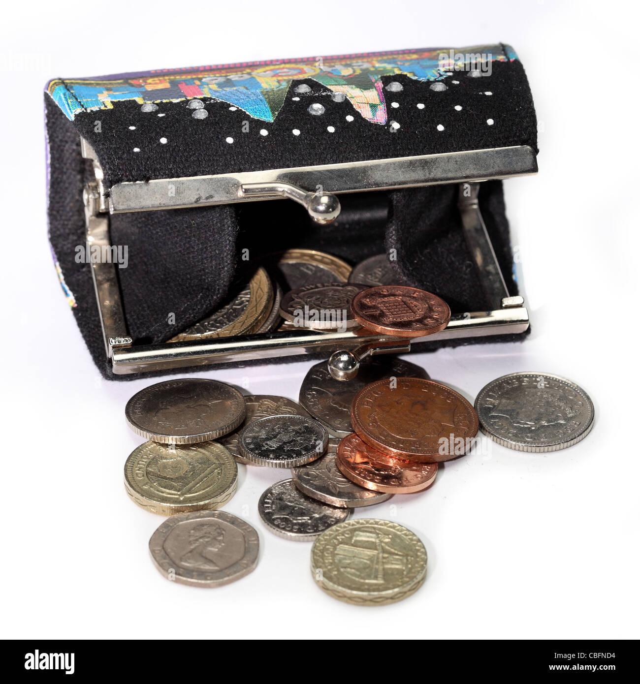 9b3b5d2ce0 Borsa di denaro contante in valuta delle monete in euro Foto ...