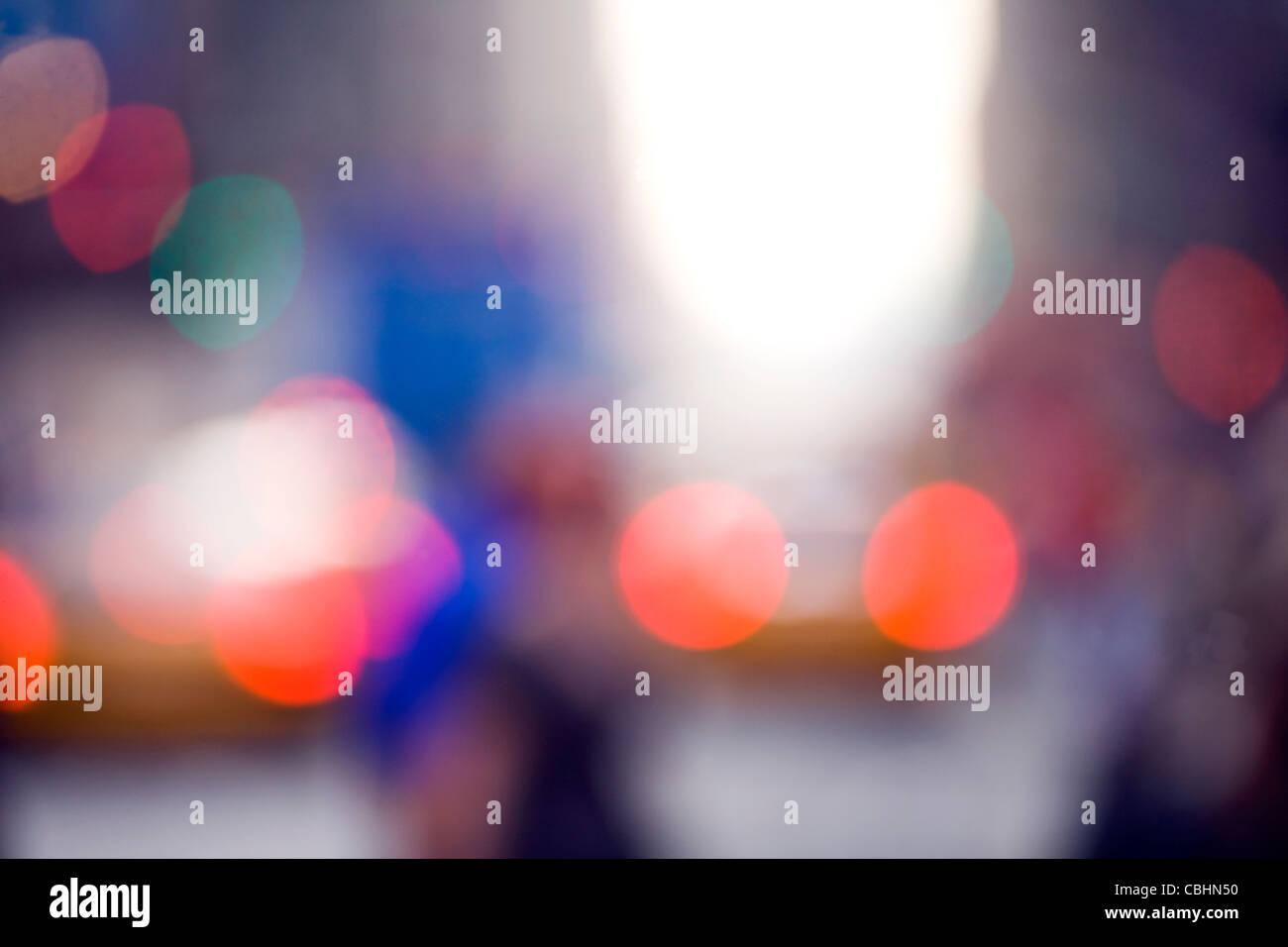 Luci Al Neon Per Ufficio.Colorata Fotografia Astratta Taxi Sfocati Luci Di Coda Edifici Per