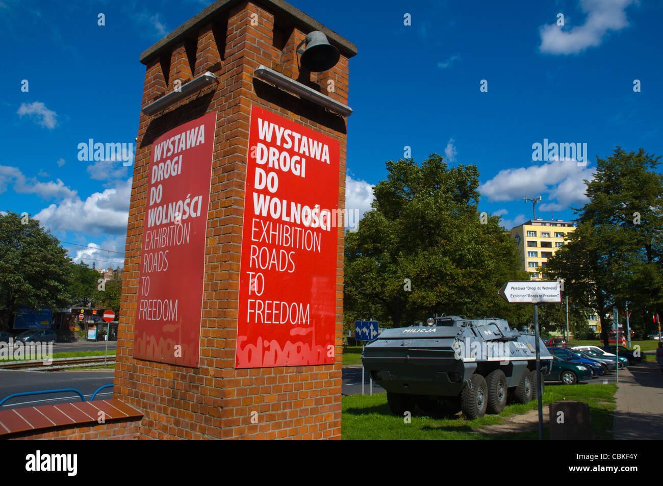 Le strade per la libertà esposizione esterna Pomeriania Danzica Polonia settentrionale Europa Immagini Stock