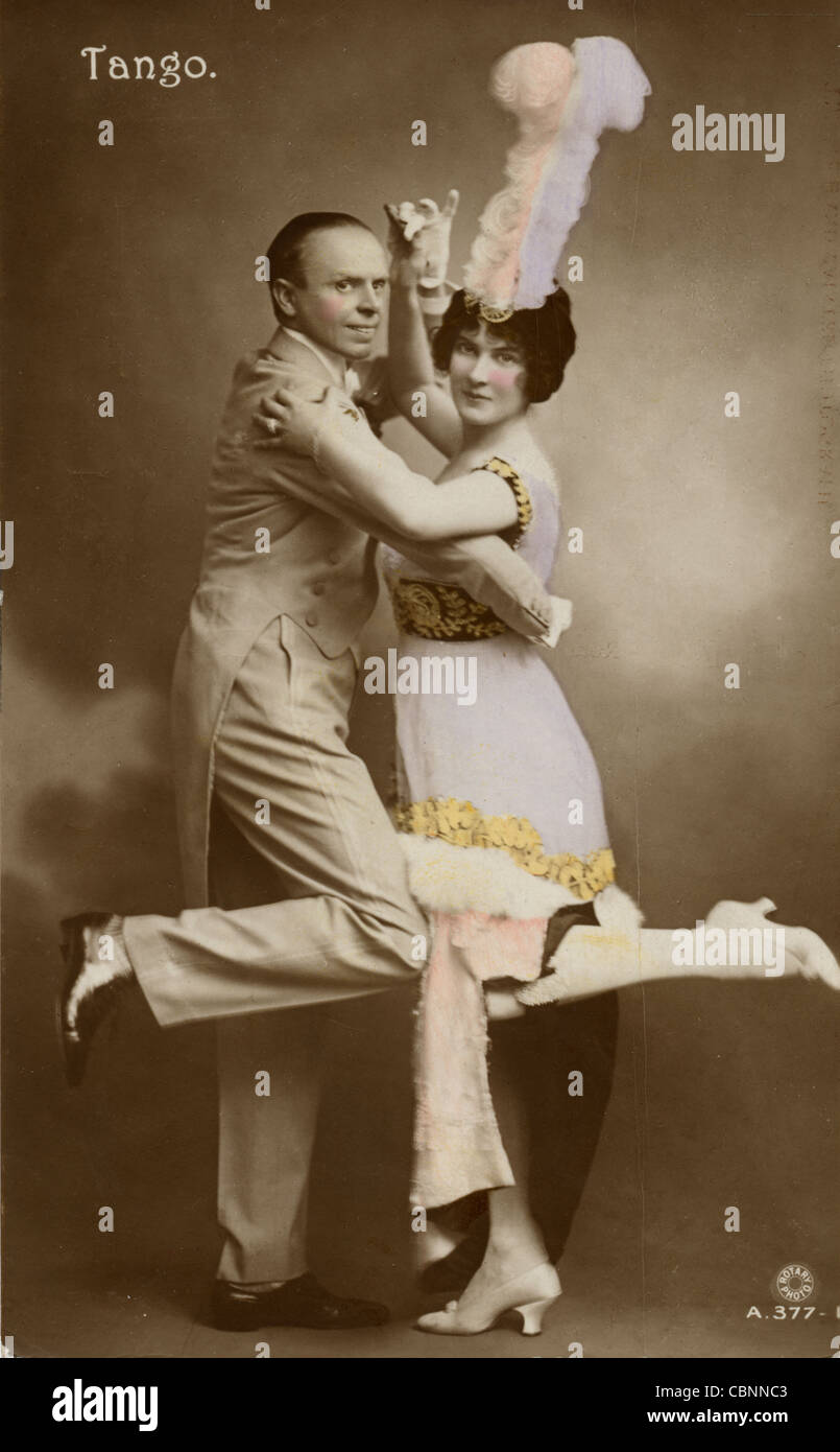 Precisione Tango danze di coppia Immagini Stock