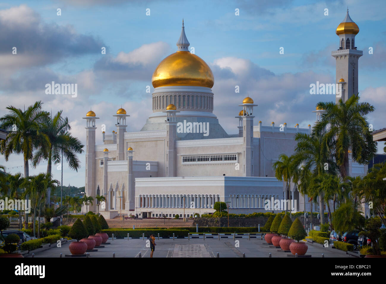 Moschea di Omar Ali Saifuddien Bandar Seri Begawan, Brunei Immagini Stock
