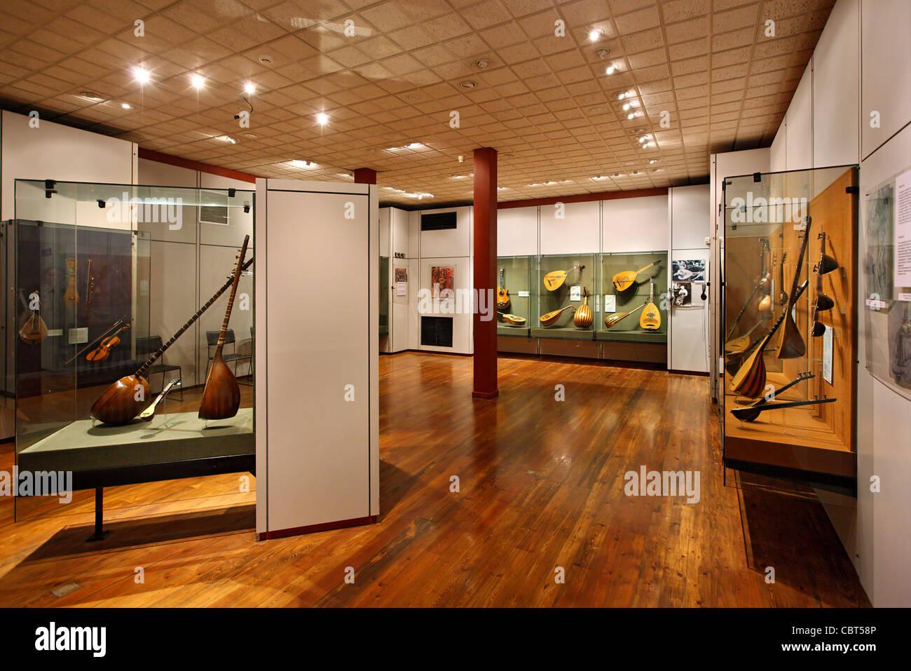Il Museo di Strumenti Folk nel quartiere di Plaka, Atene, Grecia Immagini Stock