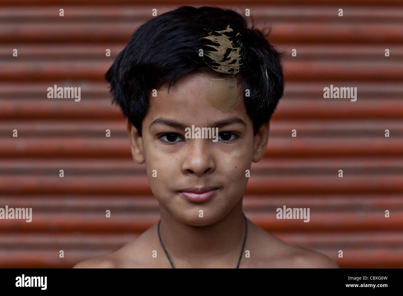 Giovani Kushti lottatore da Varanasi Immagini Stock