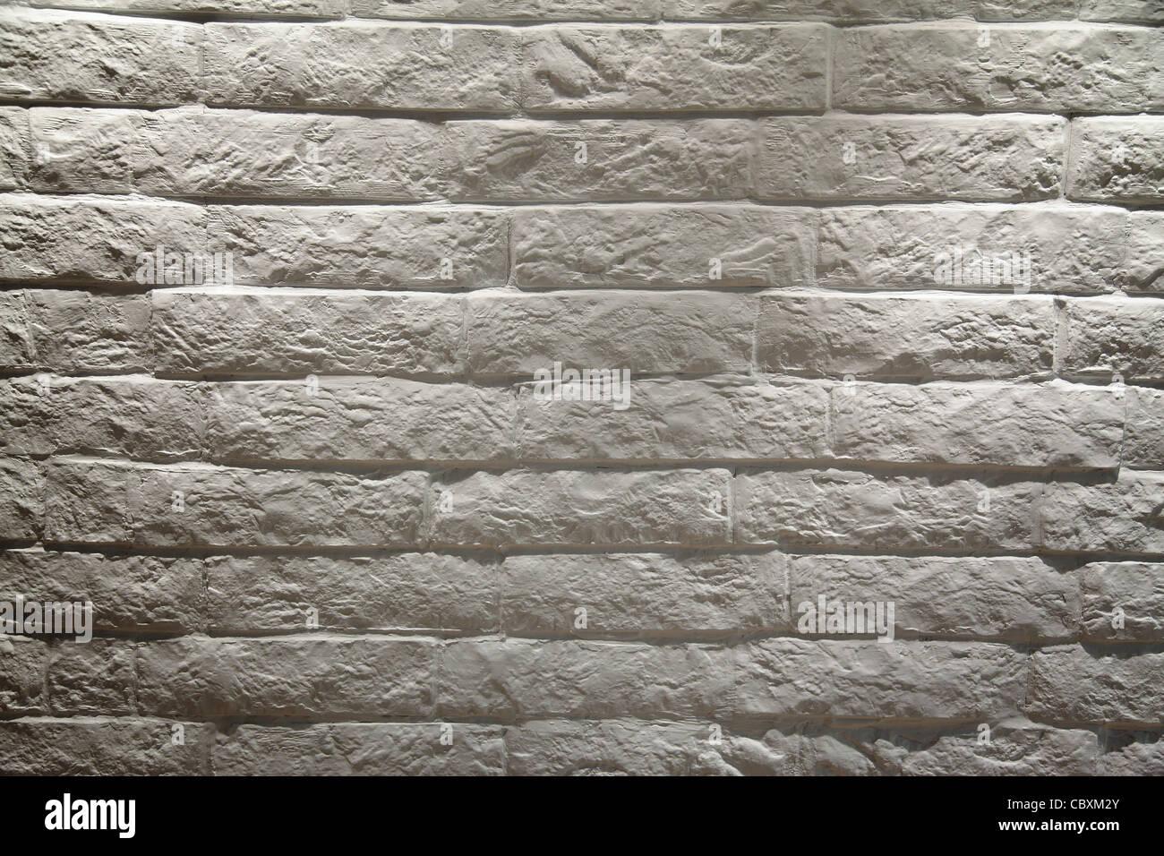 In mattoni bianchi sullo sfondo di parete Immagini Stock