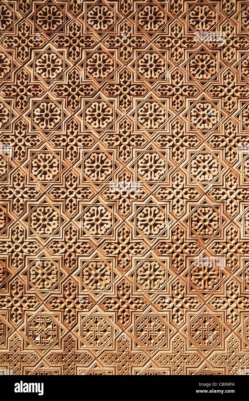 Sullo sfondo di un classico modello di arabo Immagini Stock