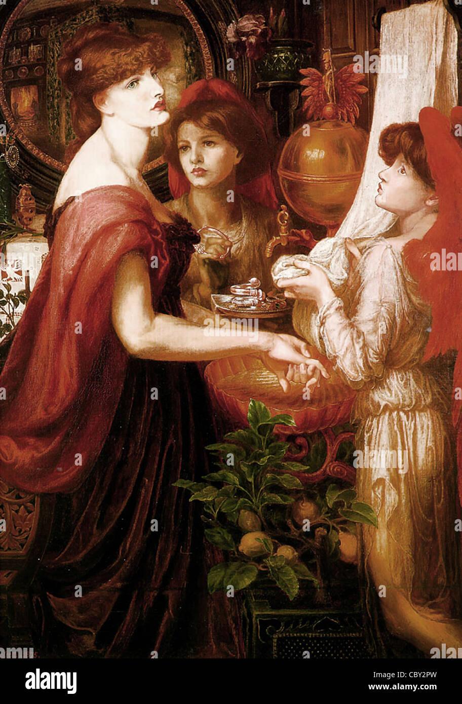 Dante Gabriel Rossetti La Bella Mano Immagini Stock