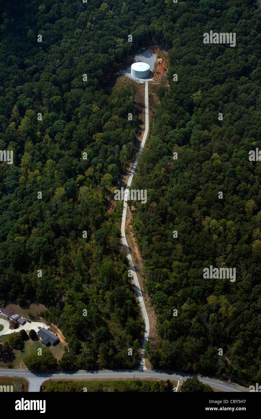 Fotografia aerea acqua serbatoio di stoccaggio nei pressi di Chattanooga nel Tennessee Immagini Stock