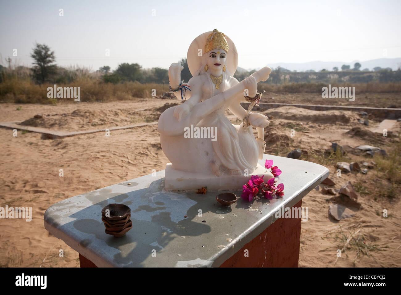 Lakshmi, la dea Indù della ricchezza e prosperità, di luce, di sapienza, di fortuna, la fertilità, Immagini Stock