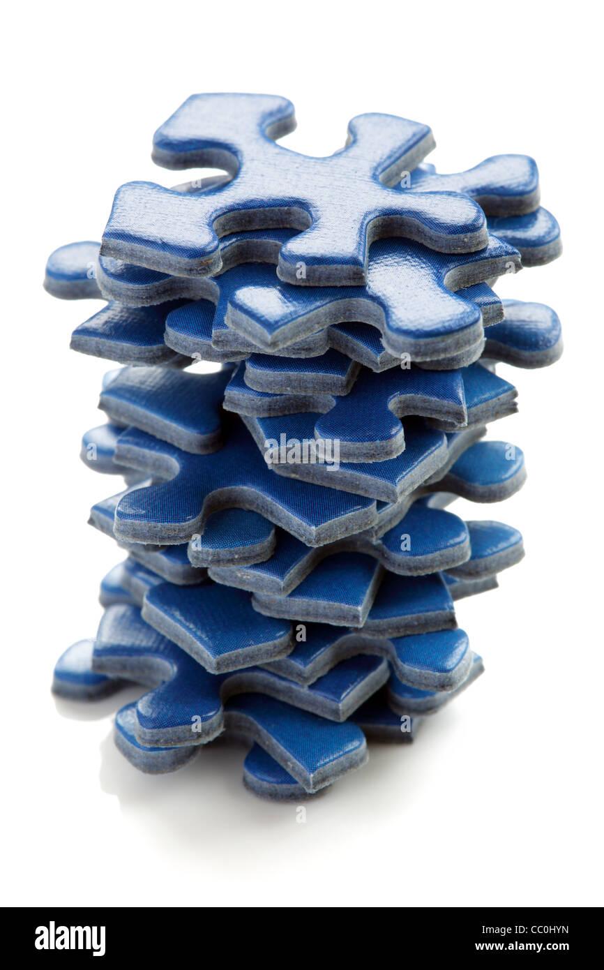 Puzzle di pezzi Immagini Stock