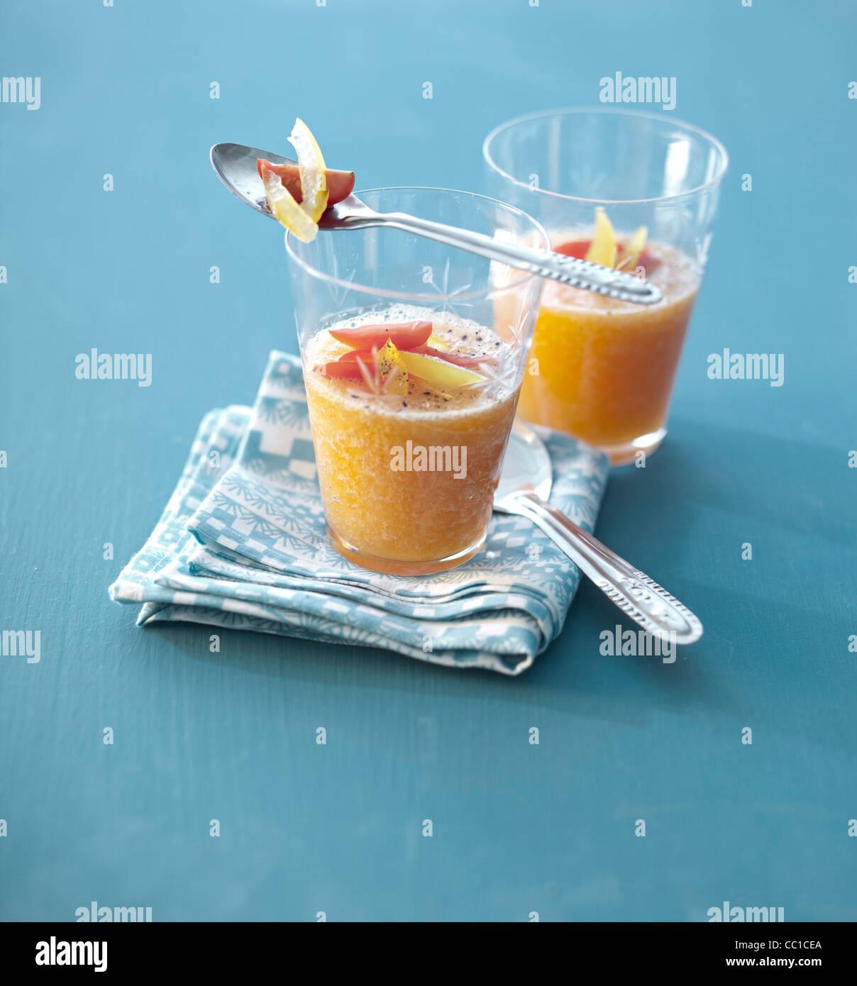 Gazpacho di melone Immagini Stock