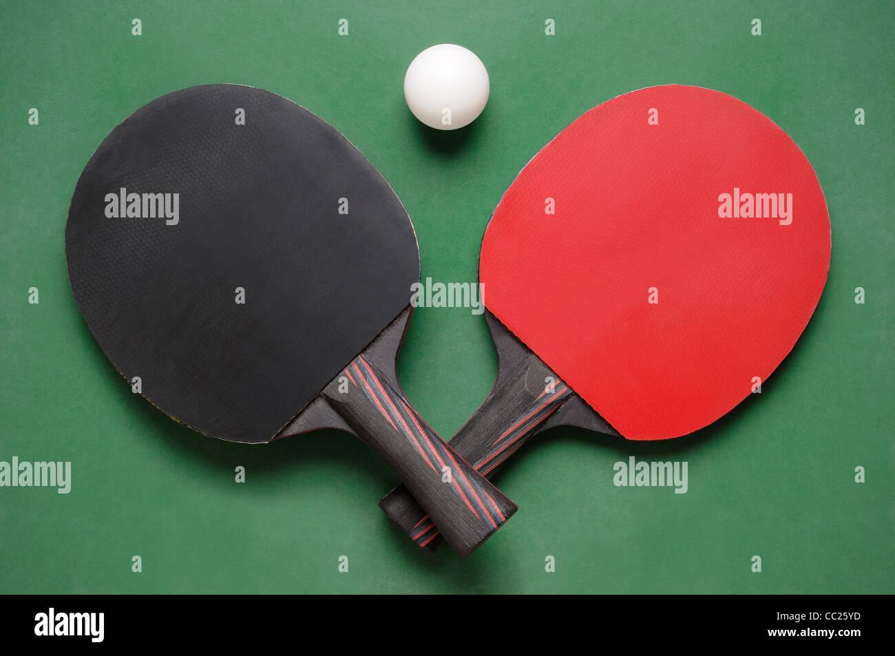 Ping Pong pipistrelli Immagini Stock