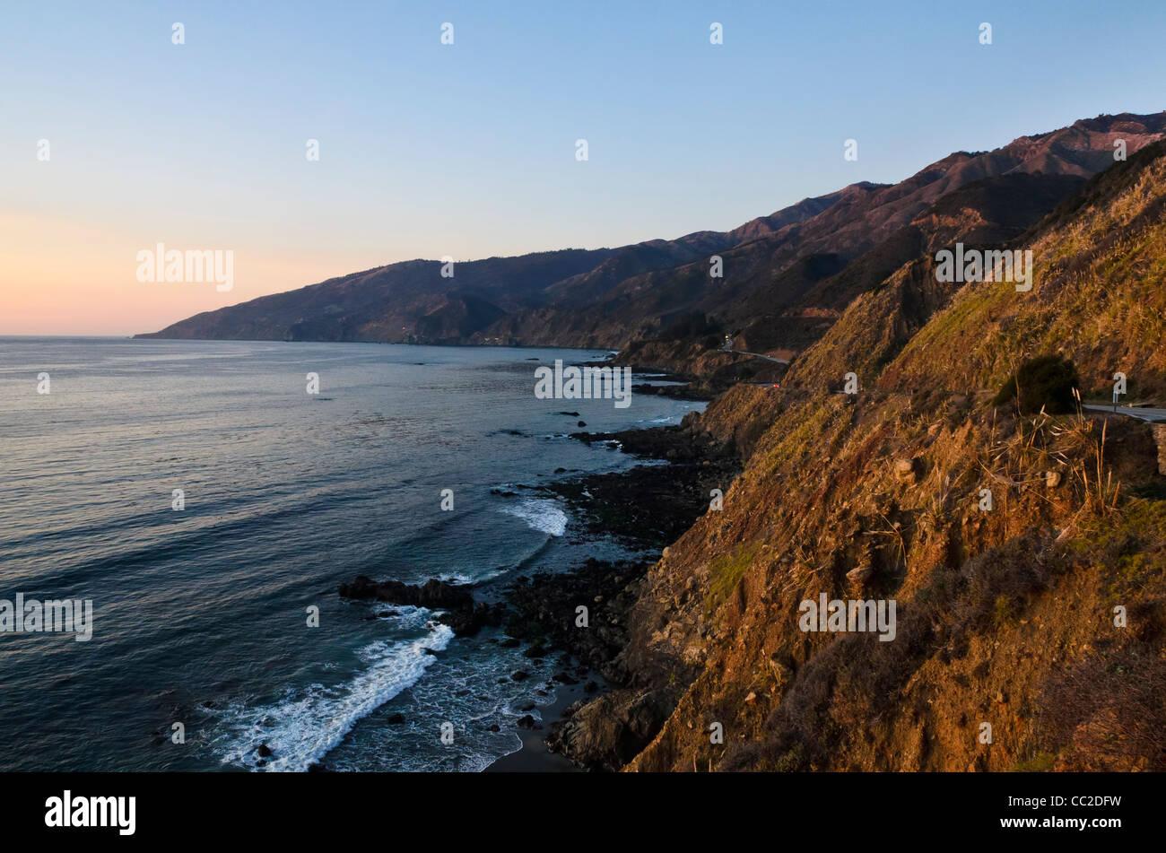 Big Sur, Costa Centrale vicino Monterey, California, Foto Stock