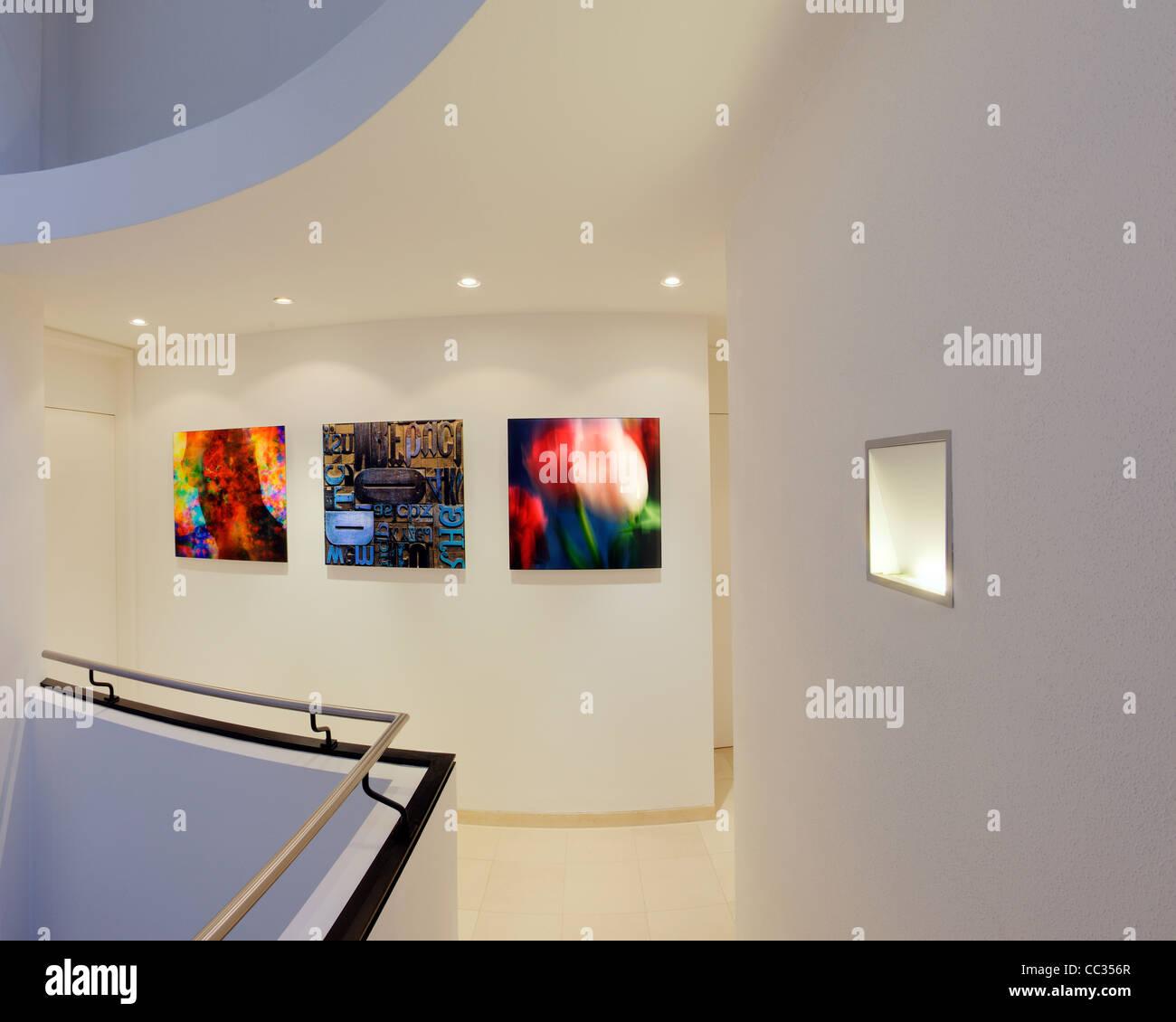 Architettura: galleria privata Display (Germania/Bad Toelz) Immagini Stock