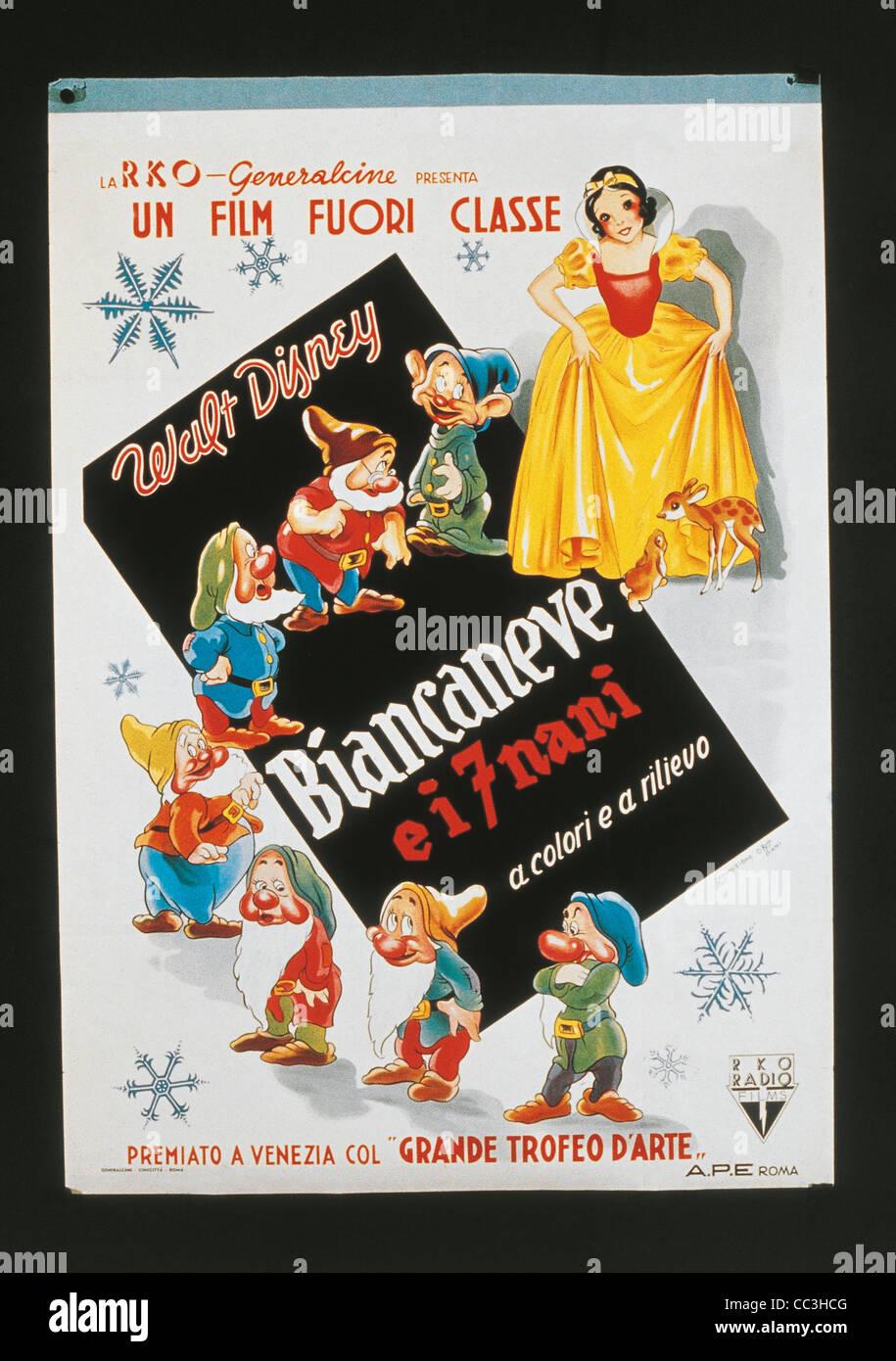 Manifesti di film: Biancaneve e i Sette Nani Immagini Stock