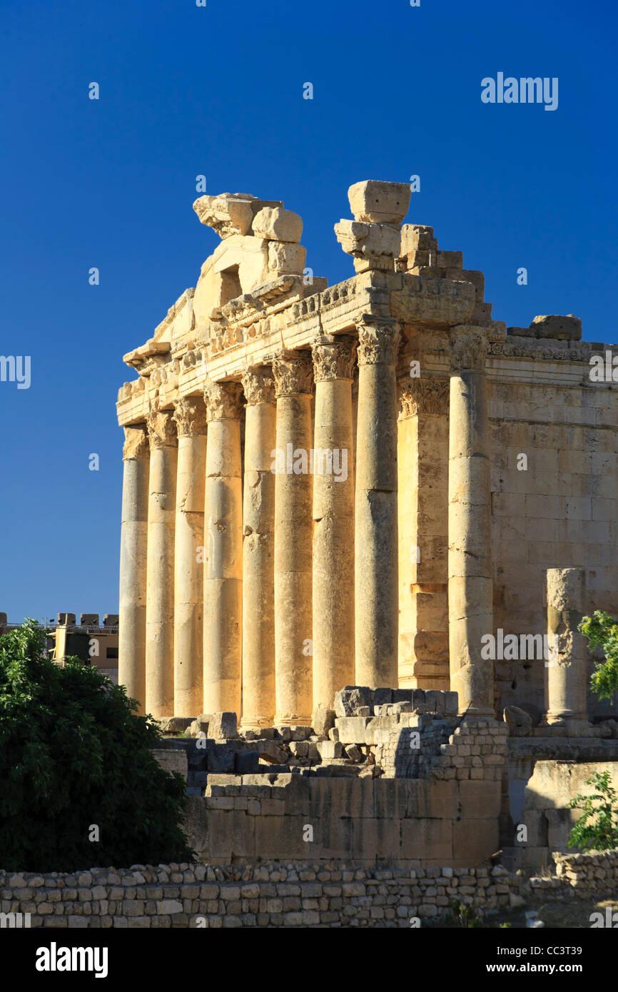 Il Libano, Baalbek, Tempio di Bacco Immagini Stock