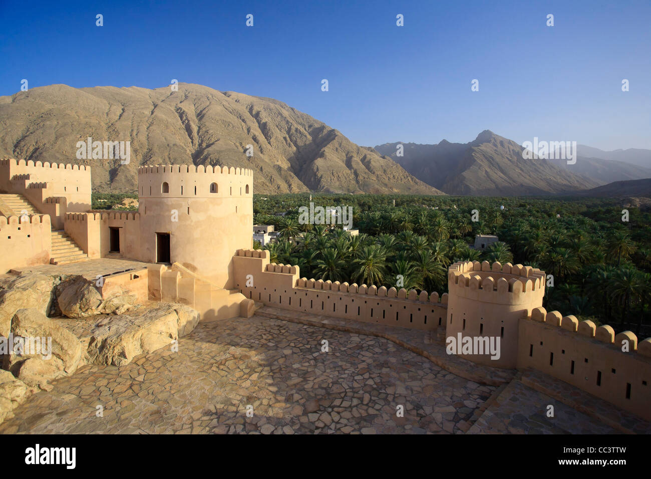Oman, Nakhal, Nakhal Fort Immagini Stock