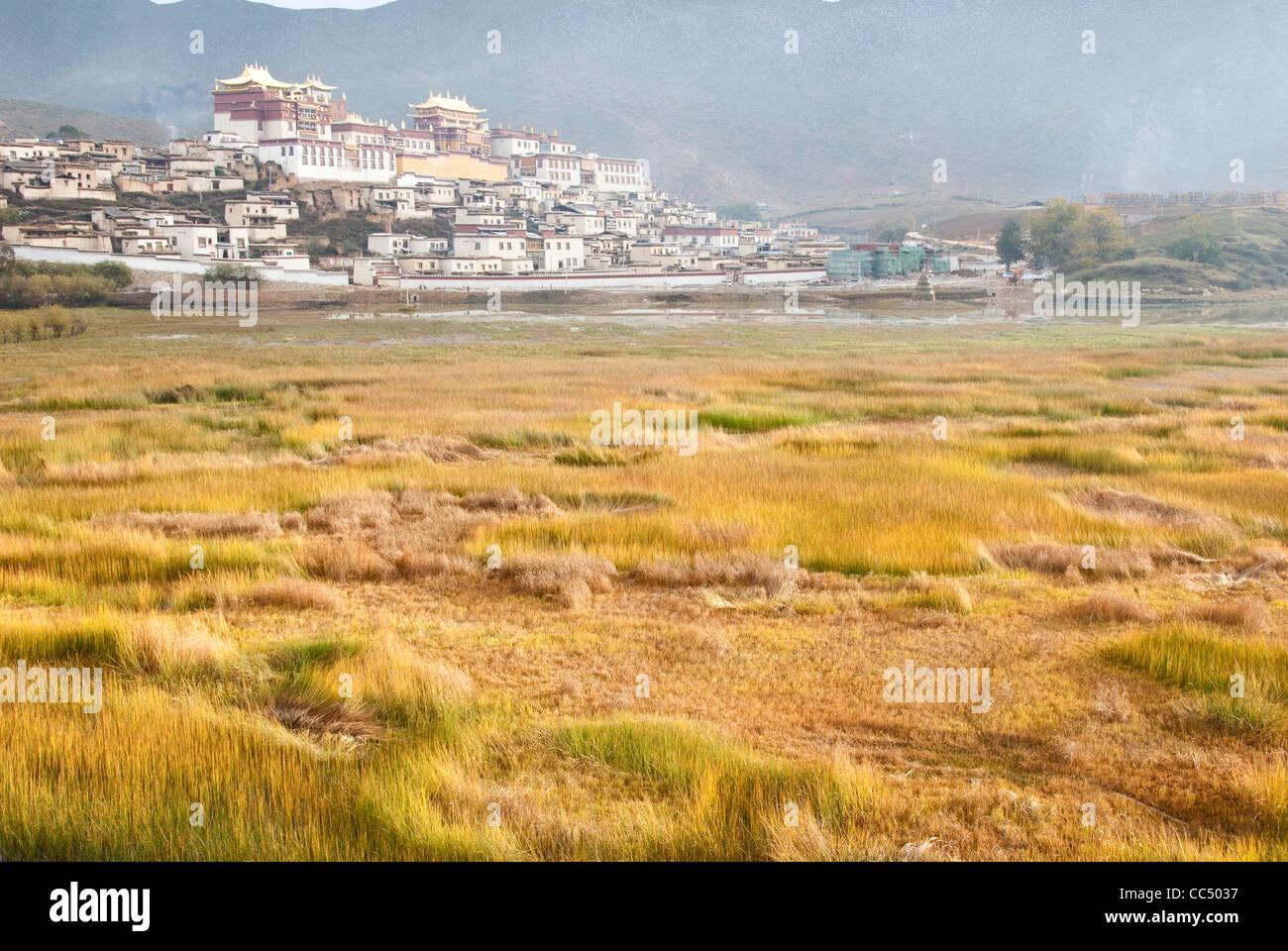 Lamasery Songzanlin, Shangri-la, DiQing tibetano prefettura autonoma, Yunnan , Cina Immagini Stock