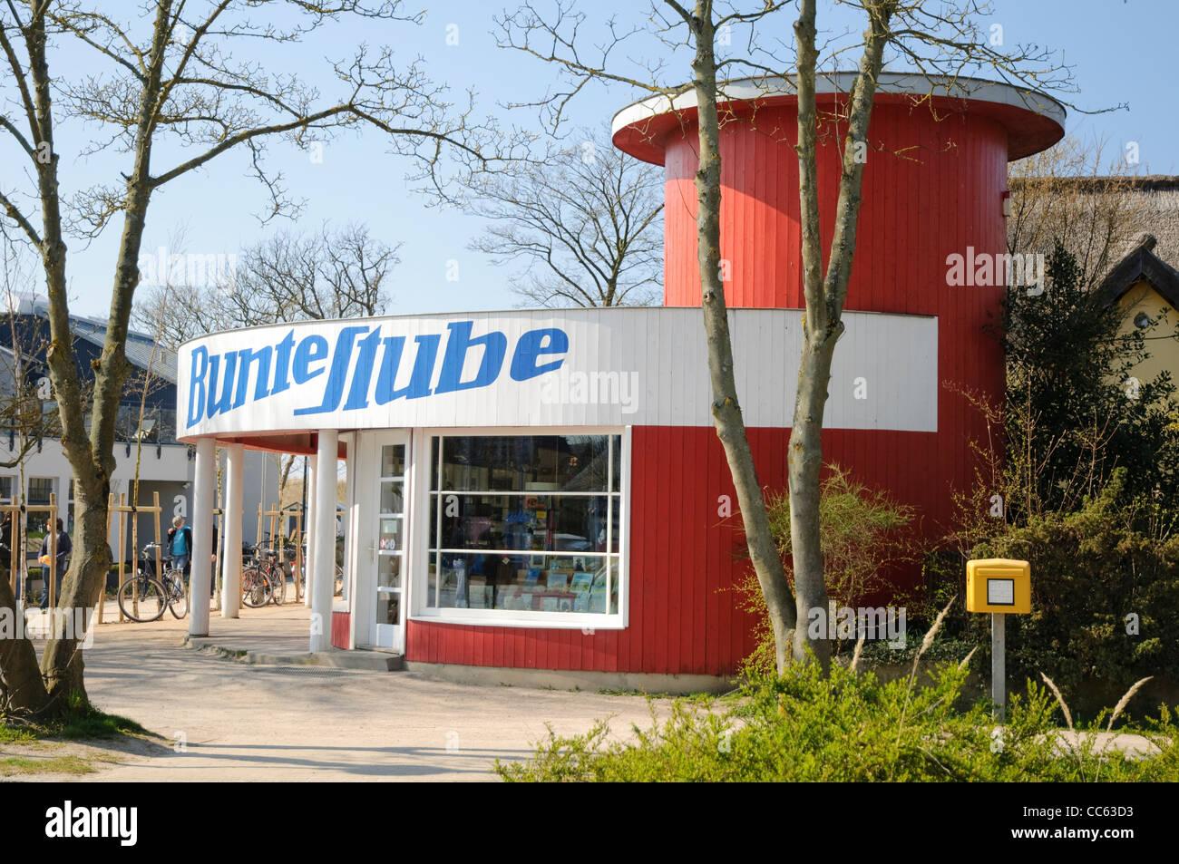 Bunte Stube progettato dal Bauhaus di Rostock architetto Walter Butzek, Bauhaus, nello stile Bauhaus, Ahrenshoop Immagini Stock