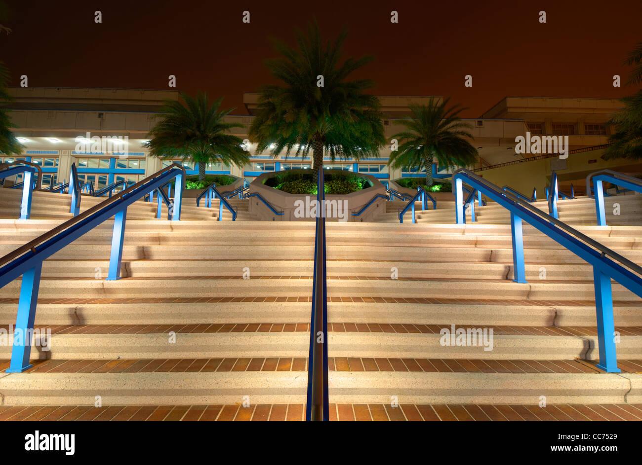 Convention center passi di notte Immagini Stock