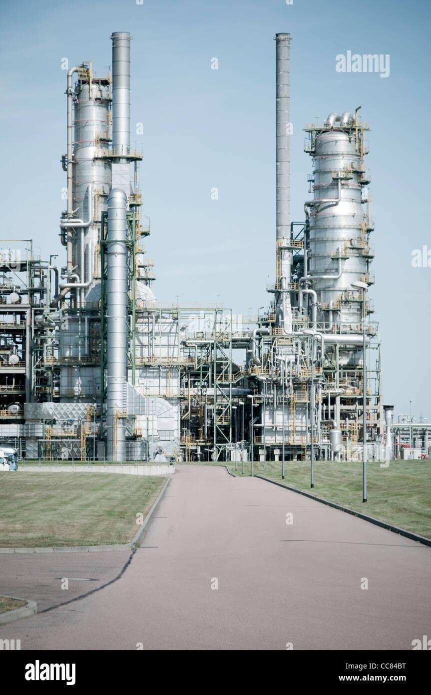 La Leuna opere impianto chimico di Leuna, Sassonia-Anhalt, Germania, Europa Immagini Stock