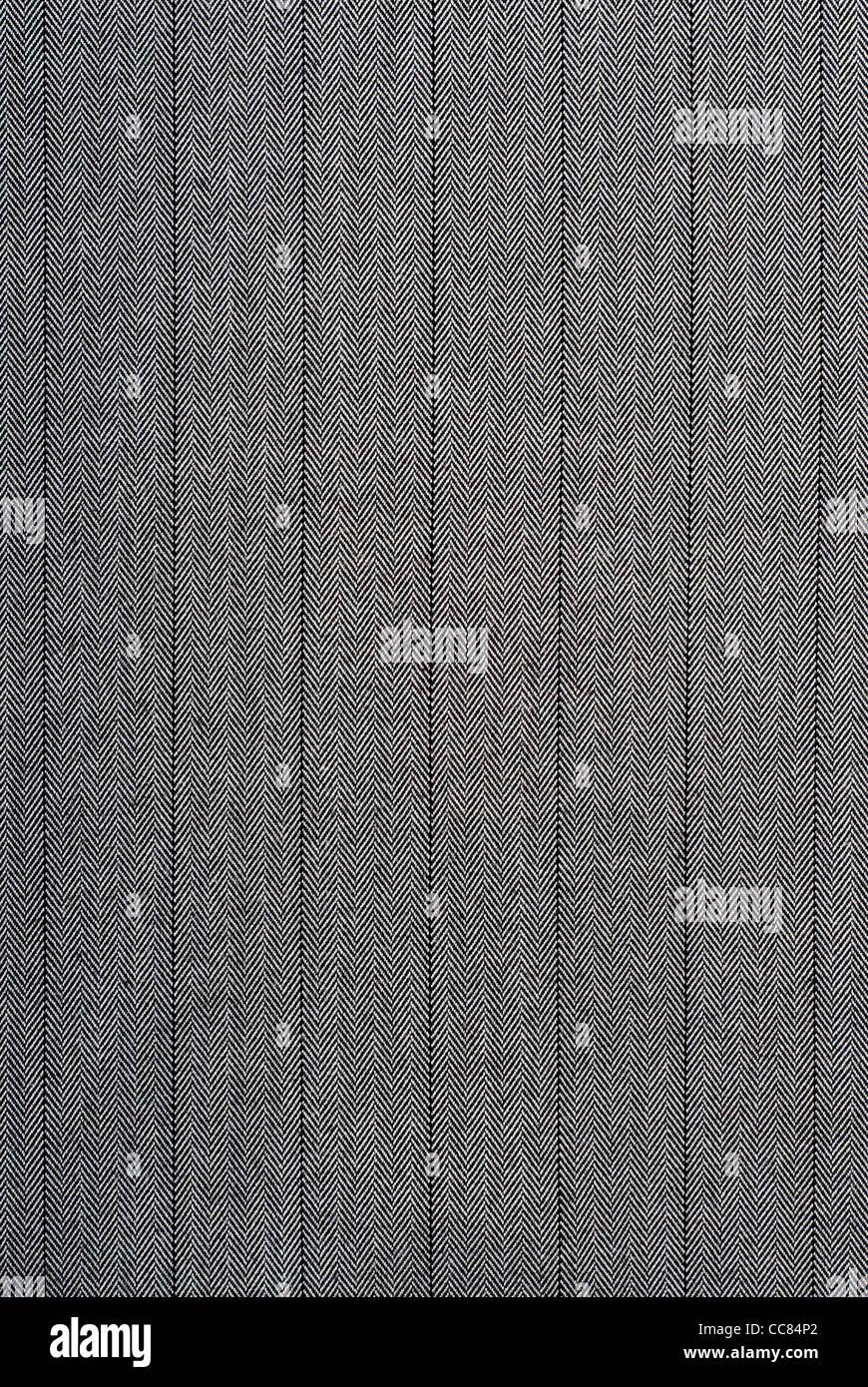 Primo piano di un bianco e nero a strisce tessuto adatto come una texture Immagini Stock