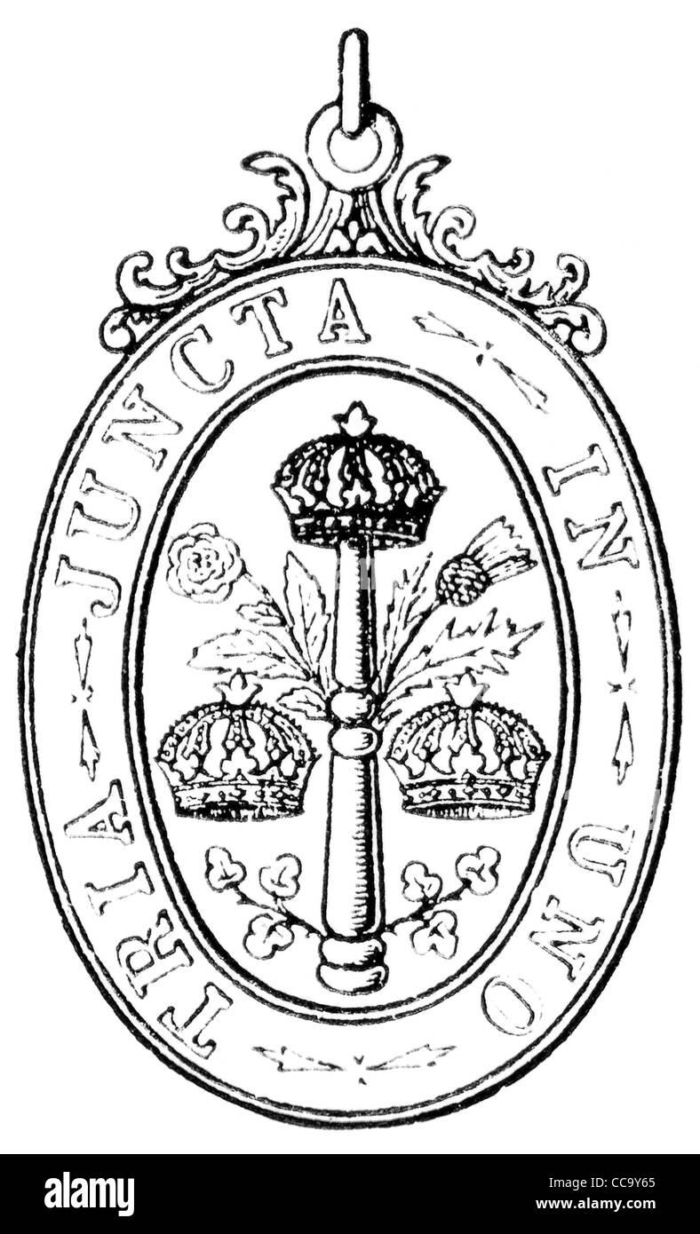 Il più illustre Ordine Militare del bagno (Inghilterra, 1725). Immagini Stock