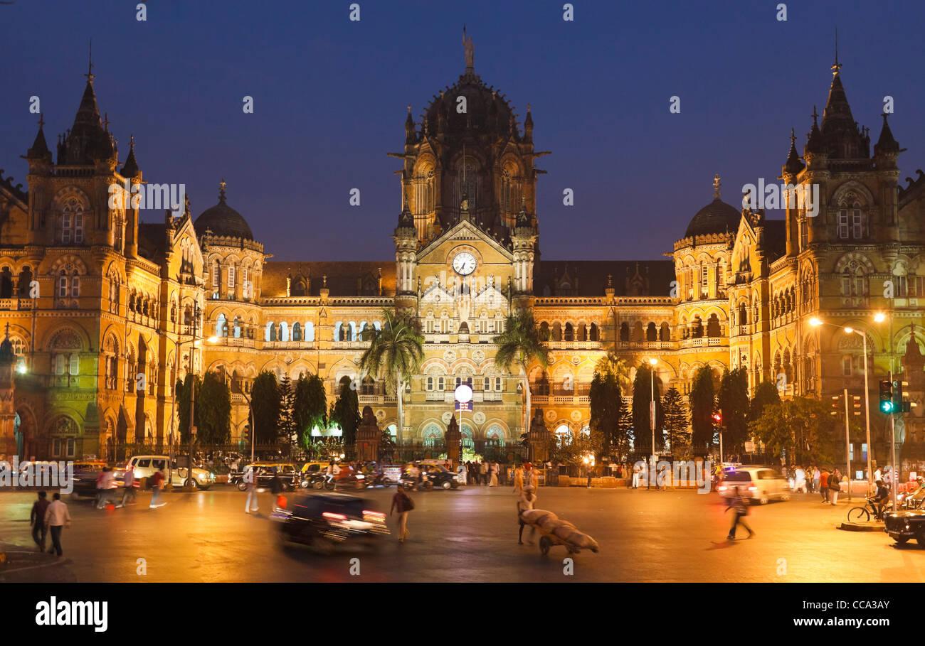 Chatrapati Shivaji Terminus (Victoria Terminus) di Mumbai (ex Bombay, India Immagini Stock