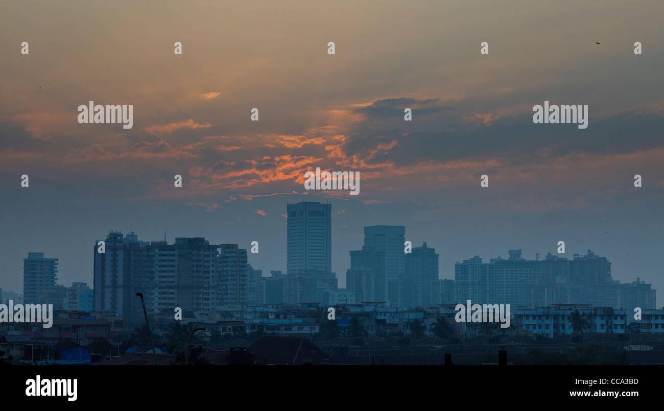Mumbai (Bombay) skyline Immagini Stock