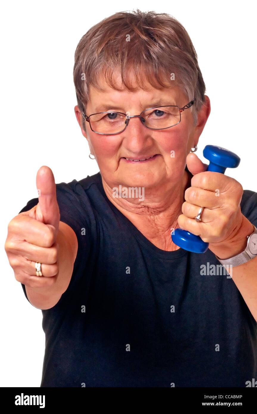 Titolare di pensione o di rendita non bodybuilding Immagini Stock