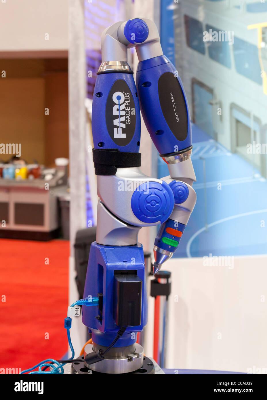 FARO Gage - Supporto portatile per la misura di precisione strumento per engineering Immagini Stock