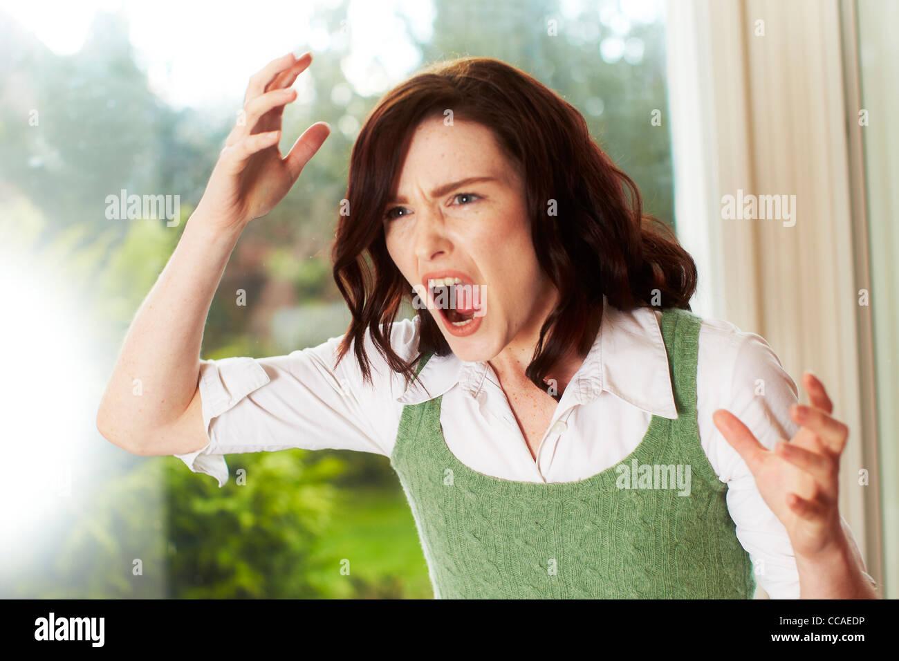 Ragazza arrabbiata Immagini Stock