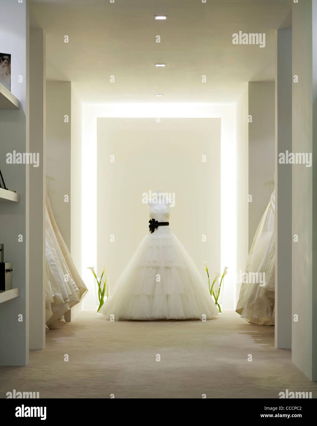 VERA WANG WEDDING SHOP SHOP interno Immagini Stock