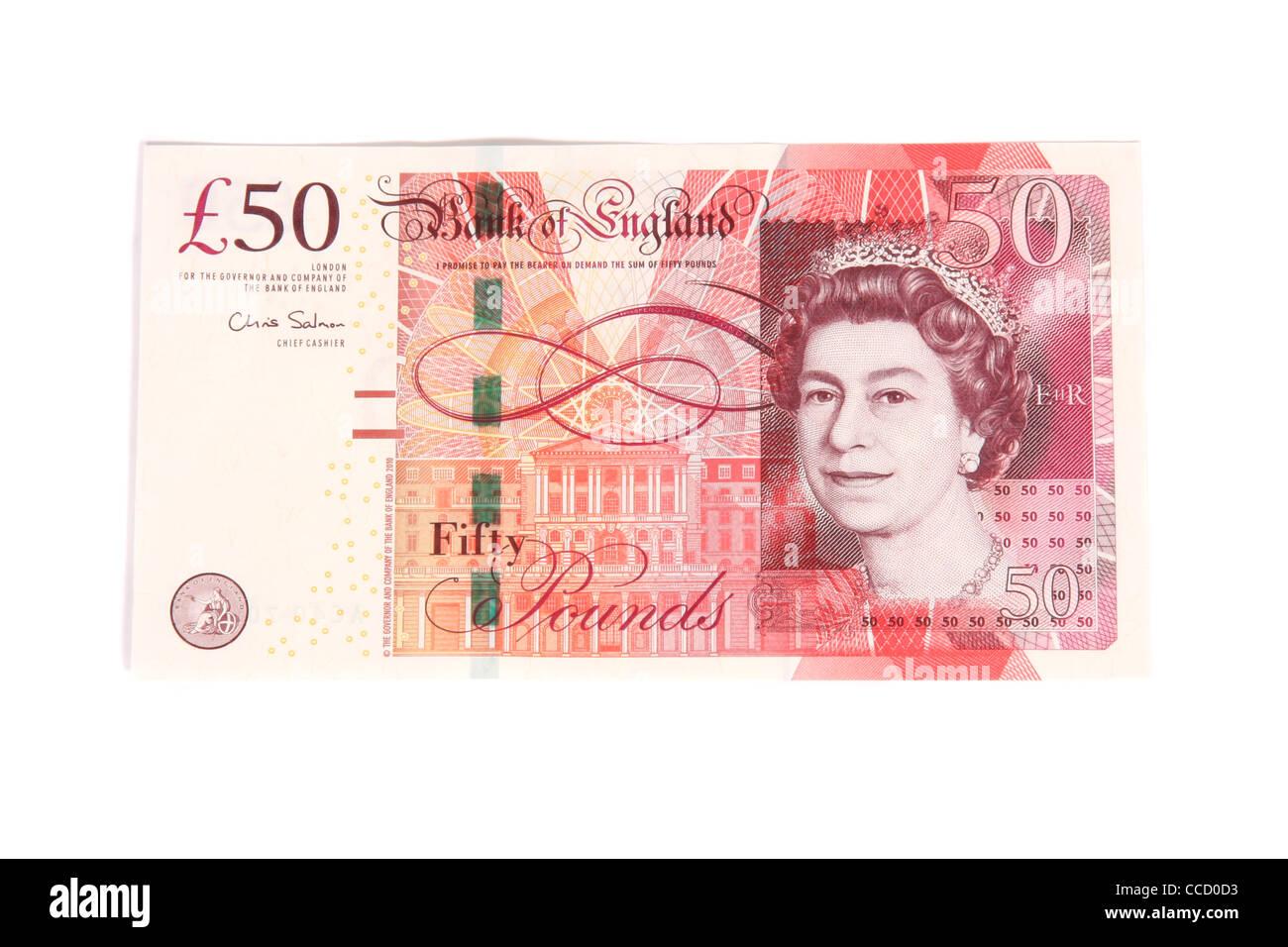 Cancelletto In Inglese : La parte anteriore di una cinquantina di cancelletto banca inglese